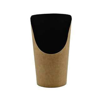 Bio Wrap Becher Kraft Black 25 St.